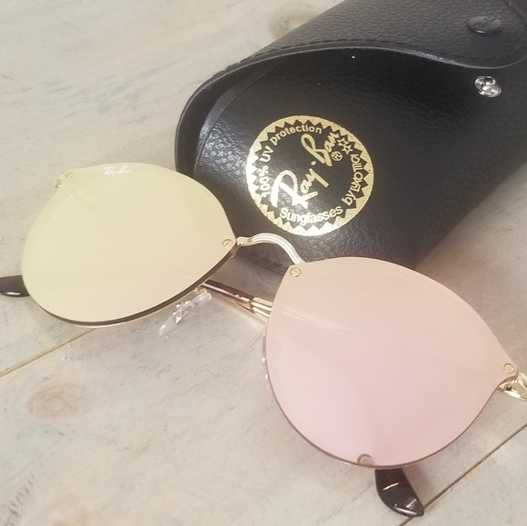 af84d7899a Ray-Ban Blaze RB3574N 59mm Round Mirror Sunglasses